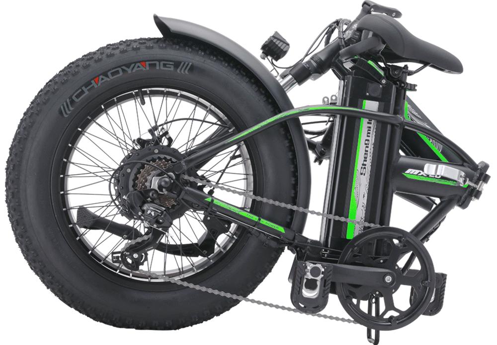 Shengmilo-MX20-20-inches-fat-folding-bike-folded-green-
